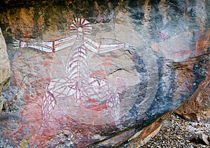 Paintings On Rocks In Australia Stock Photo - Image: 26365130