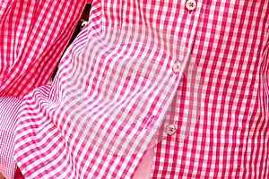 Long-sleeved Shirt In A Red Checkered Print Stock Photo - Image: 26383660