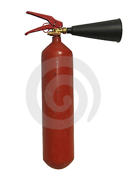 Photo of the fire extinguisher Royalty Free Stock Image