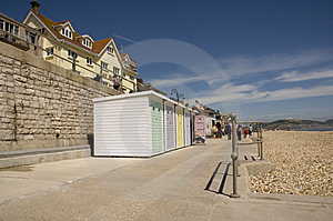 Cabins On Beachfront Stock Photography - Image: 2642352