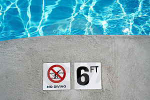 Swimming Pool Depth Marker Stock Photos - Image: 2647063