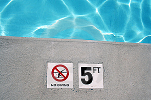 Swimming Pool Depth Marker Royalty Free Stock Photo - Image: 2647075