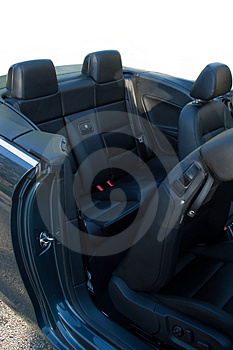 Rear Seat Of Convertible Royalty Free Stock Photography - Image: 2648527
