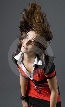 Hair Throw Woman Stock Photo - Image: 2649760