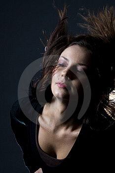 Hair Throw Woman Royalty Free Stock Image - Image: 2649836