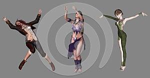 Amazing Digital Characters Royalty Free Stock Image - Image: 26400616