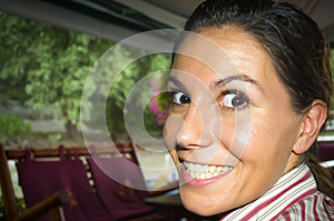 Girl With Joker Smile Stock Image - Image: 26402621