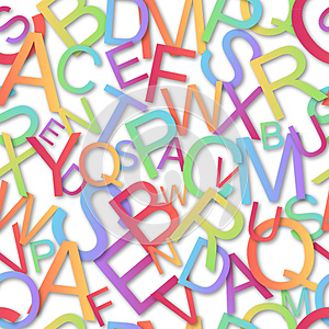 Seamless  Pattern, Colorful Alphabet Royalty Free Stock Images - Image: 26402879