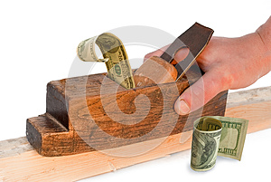 Planer, Jointer,money, Dollar, - Concepts. Stock Photos - Image: 26407873