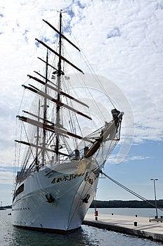 White Boat Stock Image - Image: 26423721