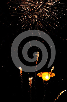 Firework Over Lantern Royalty Free Stock Images - Image: 26443019