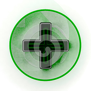 Pharmacy Green Cross Sign Royalty Free Stock Images - Image: 26459349