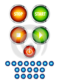 Button Icons Stock Images - Image: 26460494