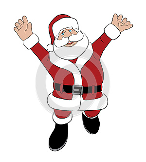 Santa Jumping For Joy Stock Photos - Image: 26467953