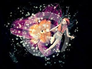 Magic Fairy Flower Royalty Free Stock Image - Image: 26473876