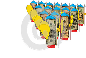 Dollar Heroes Knights On White Background Stock Photos - Image: 26484073