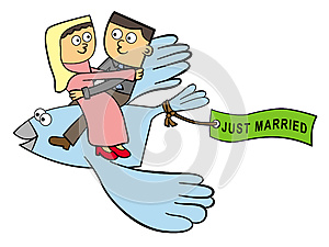 Happily Married And Flying Stock Image - Image: 26491421