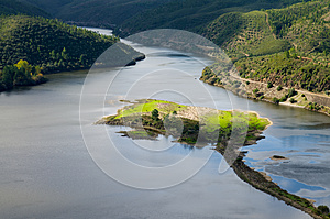 Island In Tagus River At Portas De Rodao Royalty Free Stock Images - Image: 26497459