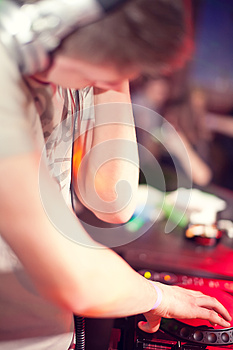 Dj Mixing Royalty Free Stock Images - Image: 26499089
