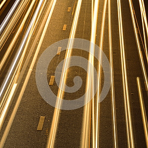 Light On The Road. Stock Images - Image: 26499114