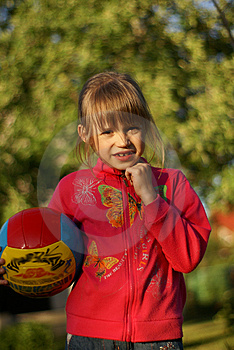 Fun In The Garden With Ball Royalty Free Stock Photo - Image: 2656915