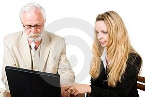 Een Commercieel Team Die (1) Werken Stock Afbeelding - Afbeelding: 2657091