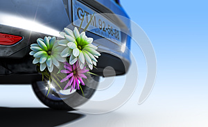Ecologic Fuel Concept With Flowers Stock Photo - Image: 26500270