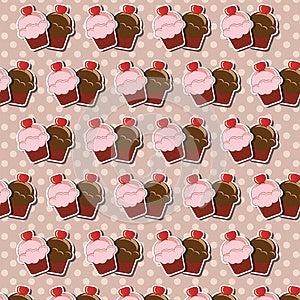 Cupcake Background Stock Image - Image: 26502701