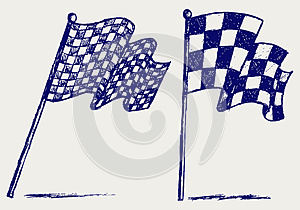 Bandeiras Checkered Foto de Stock Royalty Free - Imagem: 26513665