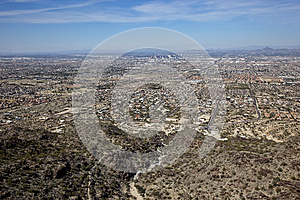 Phoenix From South Mountain Stock Image - Image: 26514261