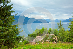 Norway Fjord From Height Royalty Free Stock Photos - Image: 26514608