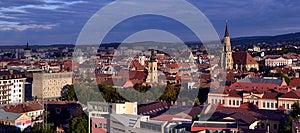 Panoramic View Of Cluj Napoca, Transylvania Royalty Free Stock Photos - Image: 26517378