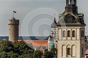 Tall Hermann Tower And Churches Royalty Free Stock Photos - Image: 26517678