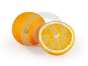 Oranges Isolated On White Stock Image - Image: 26522441