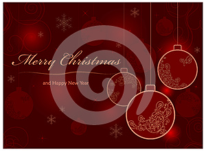 Background With Baubles & Text Stock Photography - Image: 26527222