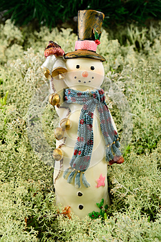 Merry Snowman Stock Images - Image: 26530734