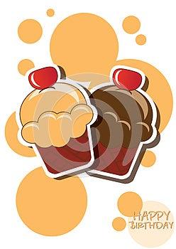 Cupcake Card Royalty Free Stock Image - Image: 26531036