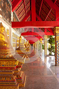 Corridor Of The Temple Royalty Free Stock Photos - Image: 26534378