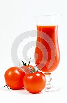 Tomatoes And Tomato Juice Stock Photo - Image: 26539370