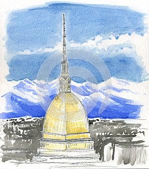 Mole Antonelliana, Tower In Turin, Italy Royalty Free Stock Photography - Image: 26541197