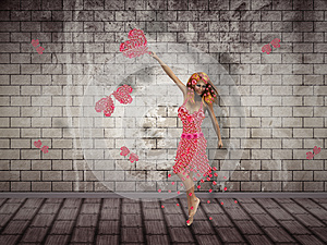 Flower Girl Dancing Stock Images - Image: 26542884