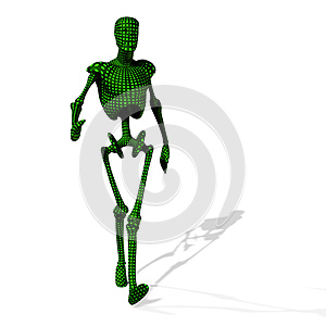 Green Cyborg Royalty Free Stock Images - Image: 26542889