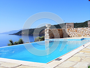 Outdoor Pool For Relaxation Stock Photos - Image: 26551393