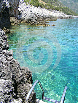 Entrance In The Water Royalty Free Stock Image - Image: 26551416