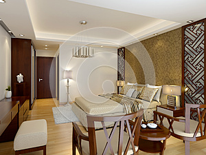 Modern Luxury Master Bedroom Interior Royalty Free Stock Images - Image: 26560209