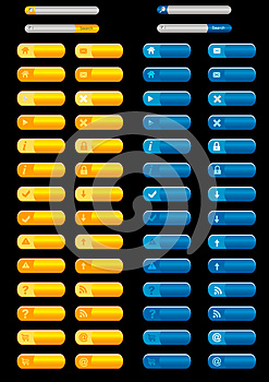 Web Buttons Collection Stock Photo - Image: 26570840
