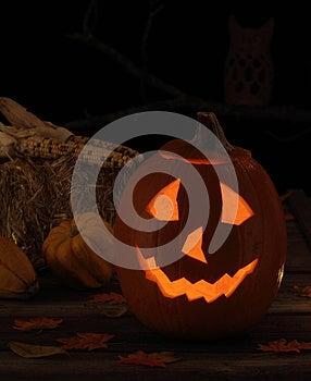 Smiling Jack-O-Lantern Royalty Free Stock Image - Image: 26571796