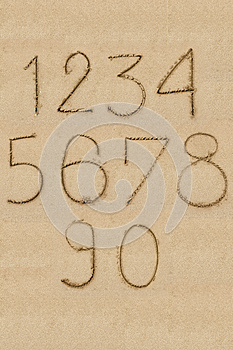 Numbers One To Zero Royalty Free Stock Image - Image: 26572856