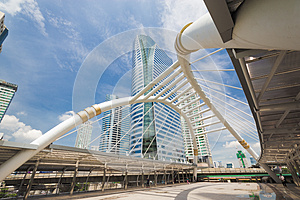 Sky Bridge At Sathon Junction, Bangkok,Thailand Stock Photo - Image: 26574900