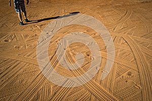 Tracks In The Dust Royalty Free Stock Photo - Image: 26580065